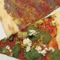 2 slices vegan pizza