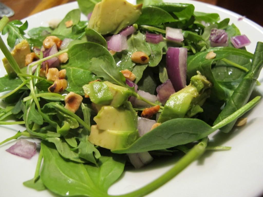 Salad from the happy hour menu at Hopworks in Portland, Or | vegetarianPDX