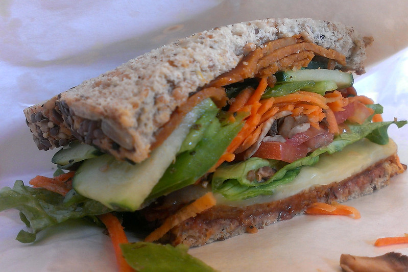 Veggie sandwich from East Side Deli