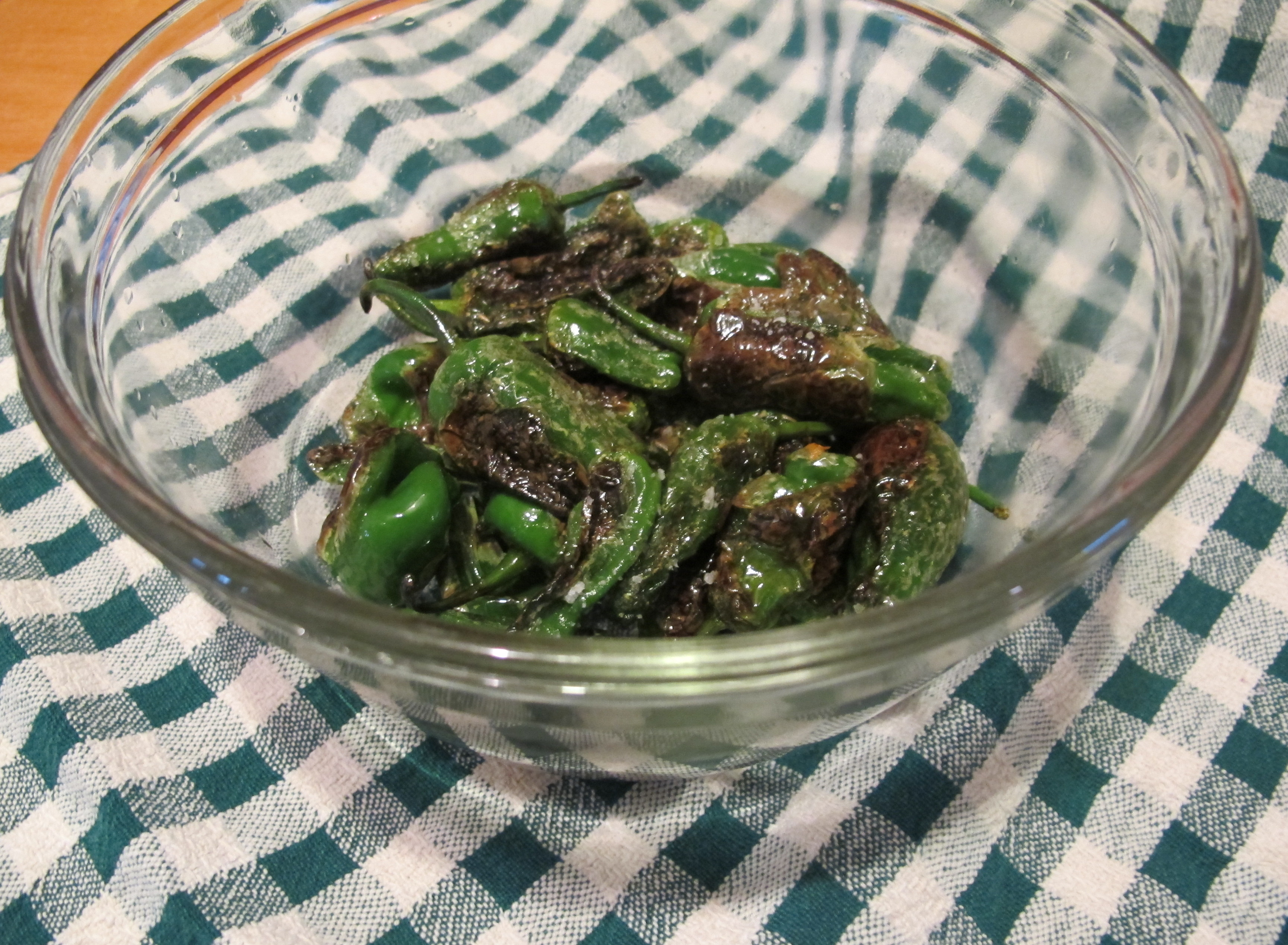 blistered peppers