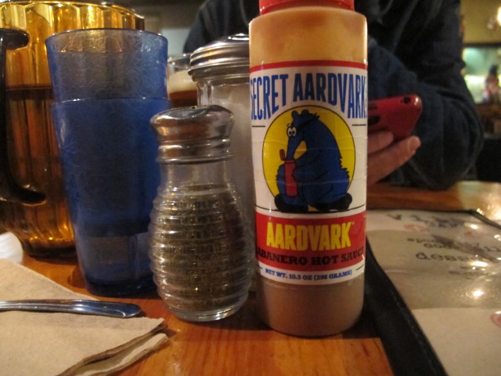 Secret Aardvark graces the tables at Vita Cafe in Portland, Oregon.