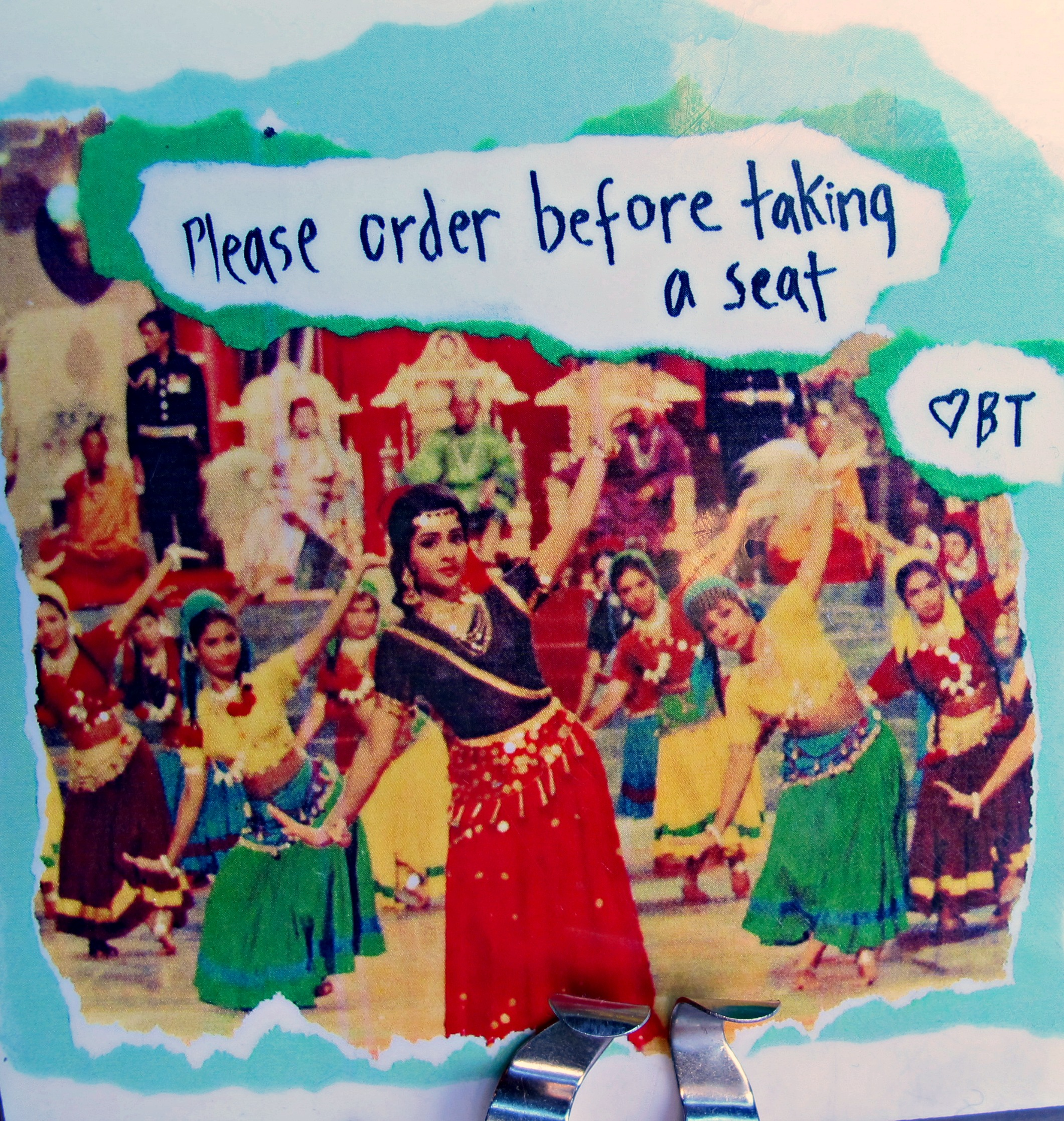 Bollywood Theater table sign
