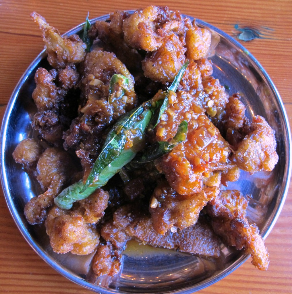 fried cauliflower with lemon from Bollywood Theater in Portland, Oregon | vegetarianPDX
