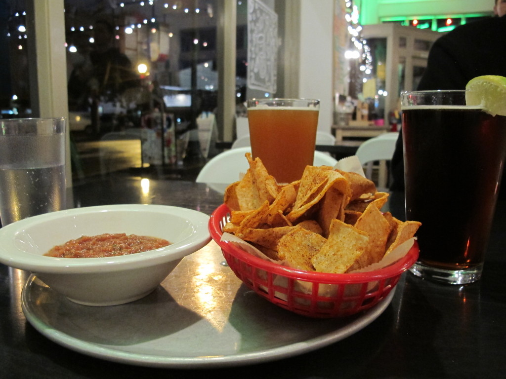Chips and salsa at Stella Taco in Portland, Oregon | vegetarianPDX