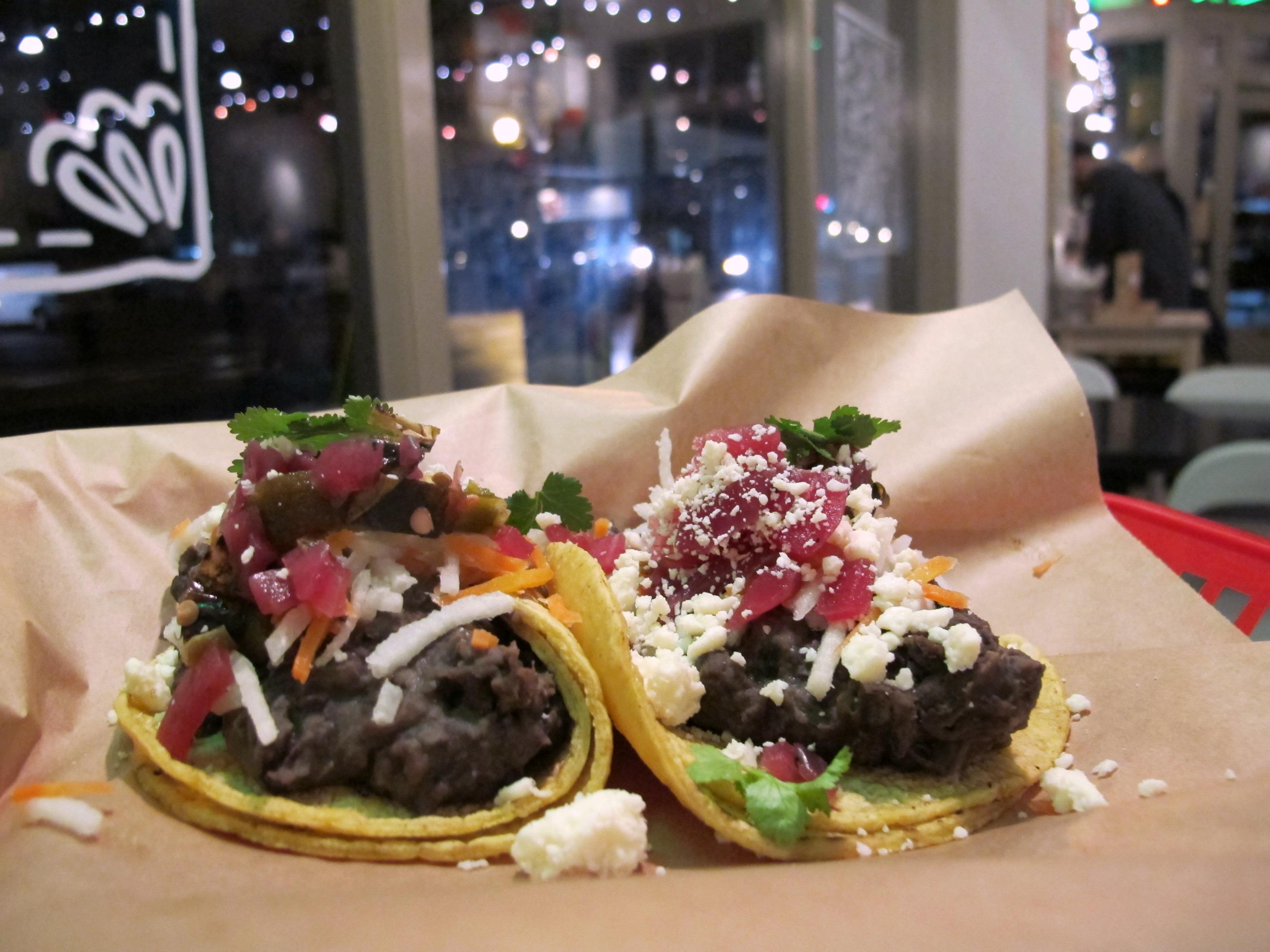 Black Bean tacos at Stella Taco in Portland, Oregon | vegetarianPDX