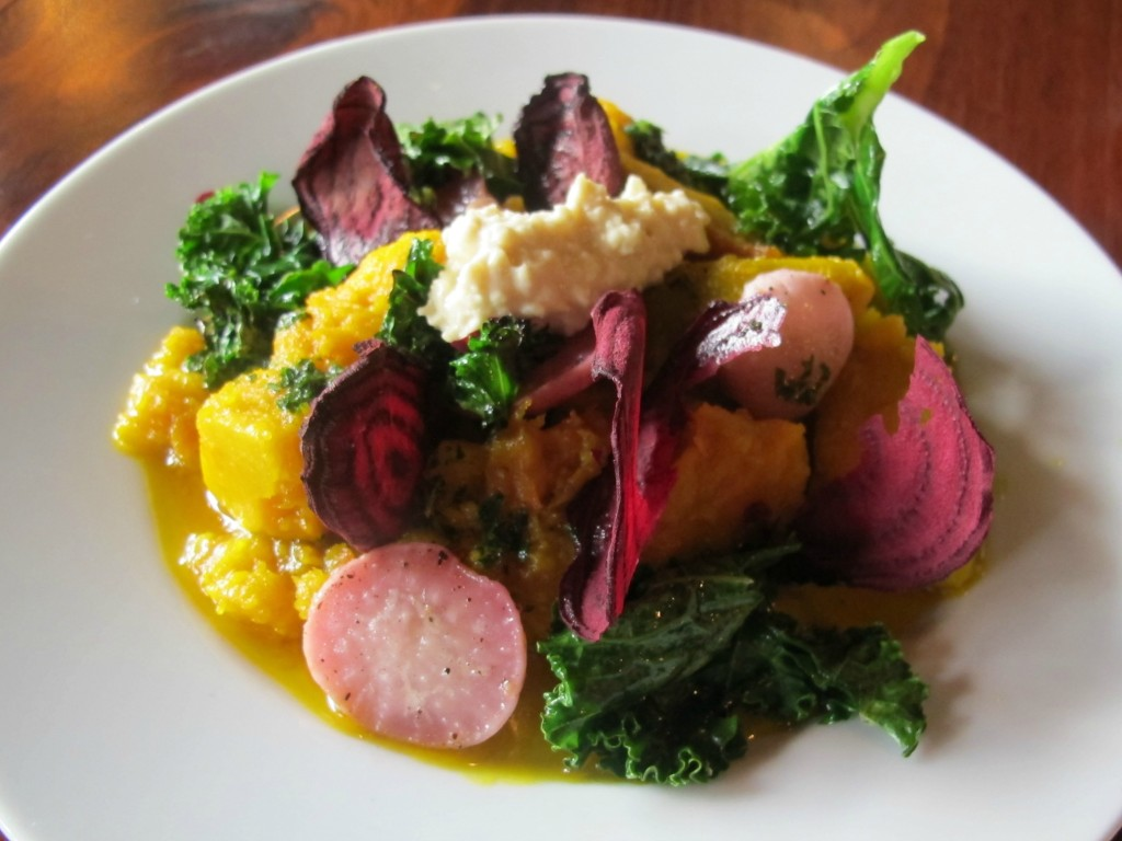 Vegan meal at Harvest at the Bindery in Portland, Oregon | vegetarianPDX
