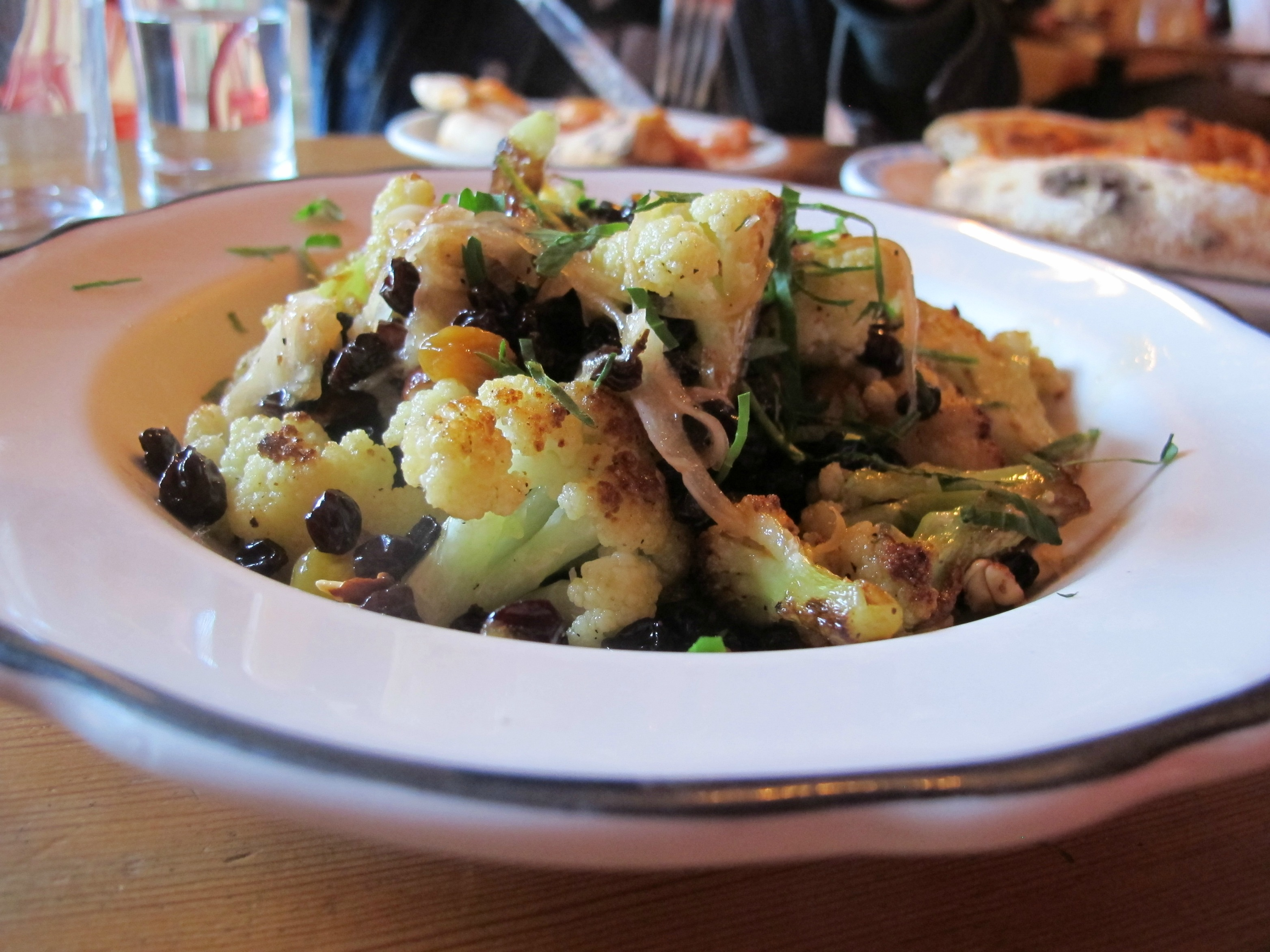 Cauliflower appetizer from Lovely's Fifty Fifty in Portland, Oregon \ vegetarianPDX