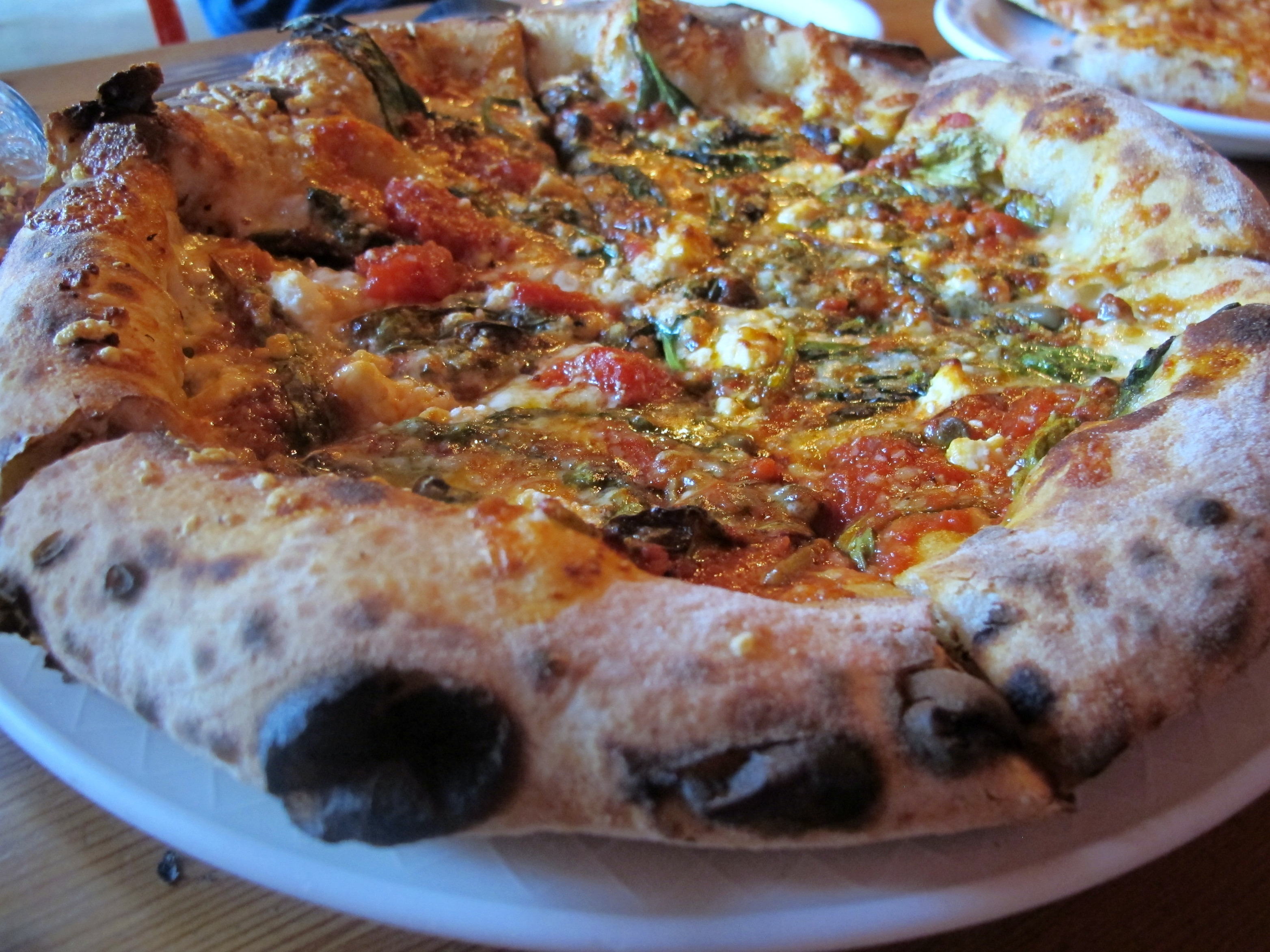 Pizza from Lovely's Fifty Fifty \ vegetarianPDX