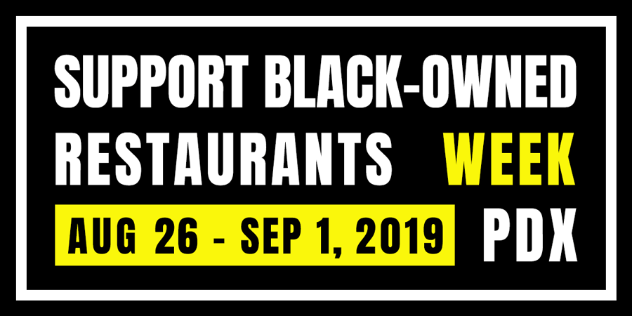 Banner for Support Black-Owned Restaurants Week 2019